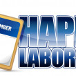 Labor day calendar — Foto de Stock