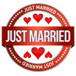 Just Married stamp print — Stock Photo #18424291