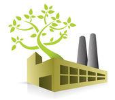 Eco energy factory — Stock Photo
