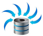 Cloud Computing Server Icon — Stock Photo