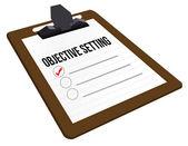 Objectieve instelling klembord — Stockfoto