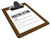 Objective Setting clipboard — Stock Photo