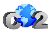 CO2 pollution in 3D's style — Stock Photo