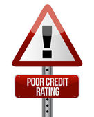 Warning sign with a credit rating concept. — Stock Photo
