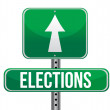 Elections road sign — Stock Photo