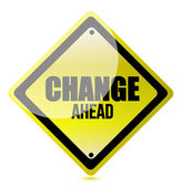 Change ahead road sign — Stock Photo