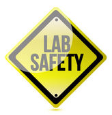 Lab safety sign — 图库照片