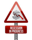 Recession in progress — Stok fotoğraf