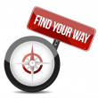 Compass with the words Find Your Way — Stock Photo
