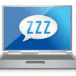Sleeping computer graphic — Stock Photo