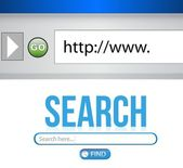 Internet Search engine browser window — Stock Photo