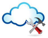 Recovery concept with cloud computing — Stock Photo