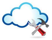 Herstel concept met cloud computing — Stockfoto