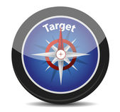 """Compass with text """"target"""" — Stock Photo"""