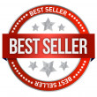 Bestseller label seal — 图库照片