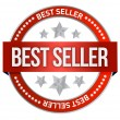 Bestseller label seal — Stockfoto