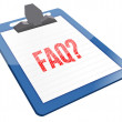 Royalty-Free Stock Photo: FAQ Icon clipboard