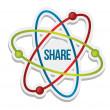 Share icon illustration — Stock Photo