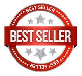 Bestseller label seal — Stock Photo