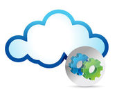Cloud computing internet veiligheidsconcept — Stockfoto