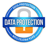 Icon Data Protection seal — Stock Photo