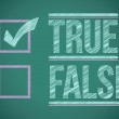 Stock Photo: True and false check box