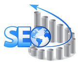 Seo - search engine optimization con frecce — Foto Stock