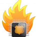 Burning Processor chip — Stock Photo