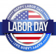 Labor day. us seal and banner — Stock Photo #18953909
