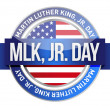 Martin Luther King Jr. us seal and banner - Stock Photo