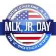 Martin Luther King Jr. us seal and banner — Stock Photo