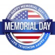 Memorial day. us seal and banner — Stock Photo