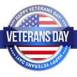 Veterans day. us seal and banner — Stock Photo #18953949