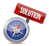 Solution conceptual image compass — Stock Photo