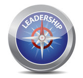Leadership red word indicated by compass — Stock Photo
