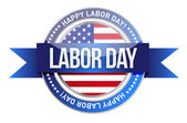 Labor day. us seal and banner — Stock Photo