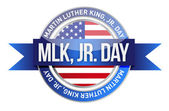 Martin Luther King Jr. us seal and banner — Foto de Stock
