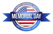 Memorial day. us seal and banner — Foto de Stock