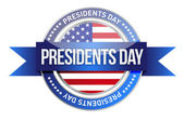 Presidents day. us seal and banner — Stock Photo