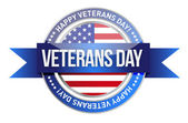 Veterans day. us seal and banner — Stock Photo