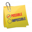 Possible against impossible — Stock Vector