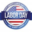 Labor day. us seal and banner — Stock Vector