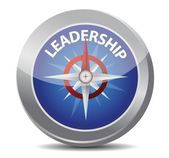 Leadership red word indicated by compass — Stock Vector