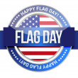 Flag day. us seal and banner — Stock Photo