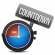 Watch with the word countdown — Foto de Stock