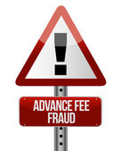 Advance fee fraud concept — Stock Photo