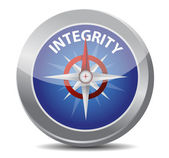 Integrity compass concept — Stock Photo
