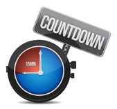 Watch with the word countdown — Stockfoto