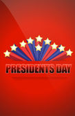Presidents day sign — Foto Stock