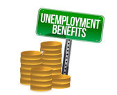 Unemployment benefits coins — 图库照片